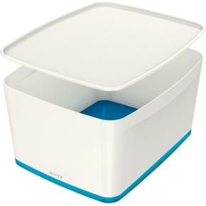 Leitz MyBox Opbevaringsboks Large, hvid/blå