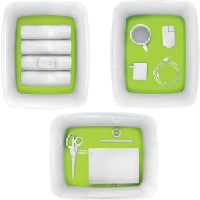 Leitz MyBox Opbevaringsboks Large, hvid/grøn