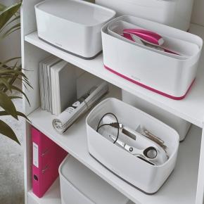 Leitz MyBox Opbevaringsboks Small, hvid/pink