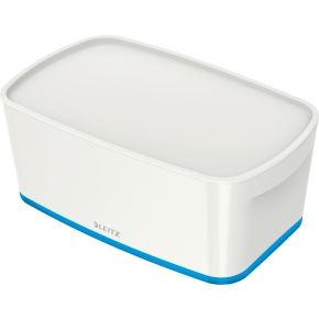 Leitz MyBox Opbevaringsboks Small, hvid/blå
