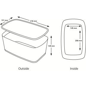Leitz MyBox Opbevaringsboks Small, hvid/grøn