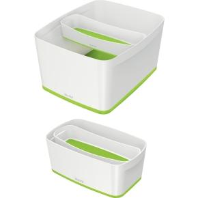 Leitz MyBox Opbevaringsbakke Long, hvid/grøn