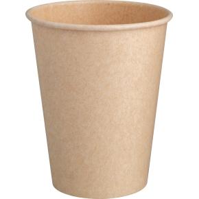 Komposterbar Hot Cup, enkelt lag pap, PLA, 250 ml