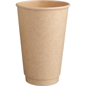 Komposterbar Hot Cup, dobbelt lag pap, PLA, 470 ml