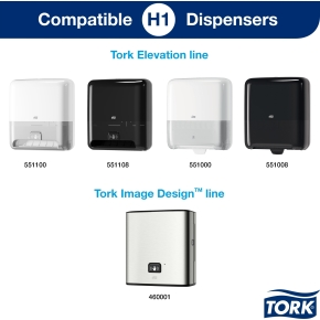 Tork H1 Premium Håndklædeark, 6 ruller