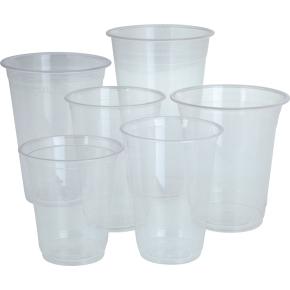 Komposterbart Drikkebæger, klar, PLA, 600 ml