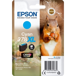 Epson T378 XL blækpatron, cyan