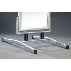"Gadeskilt ""Wind-Line Lux"", 50x70cm, Alu/Sølv"