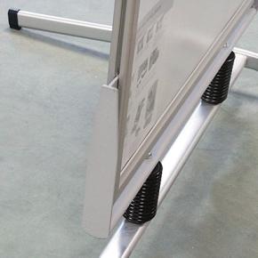 """Gadeskilt """"Wind-Line Basic"""", 59,4x84,1cm, Alu/Sølv"""