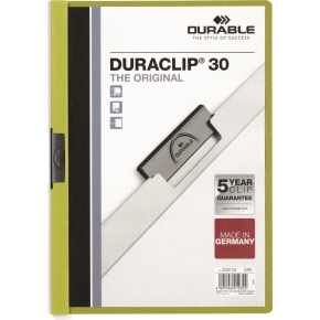 Durable Duraclip 30 Klemmappe, grøn