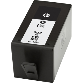 HP no.907XL/T6M19AE blæk, blister, sort, 1.500s