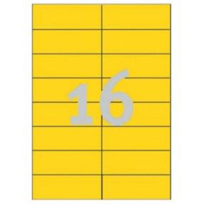 Avery 3455 farvede etiketter, 105 x 37mm, gule