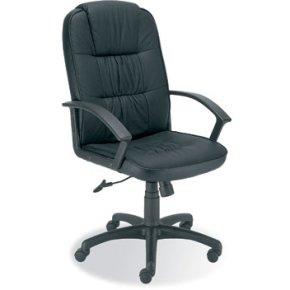 Berlin læderstol, sort