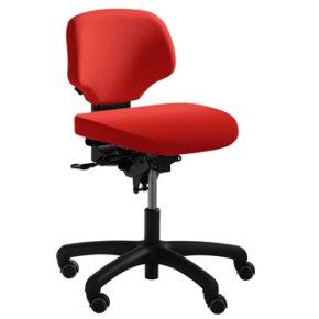 RH Activ 202 kontorstol lav ryg, bredt sæde rød