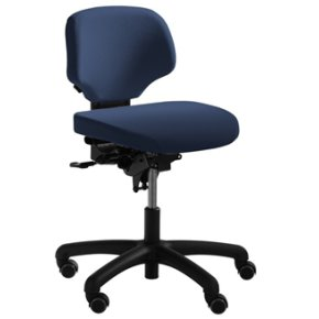 RH Activ 202 kontorstol lav ryg, bredt sæde blå