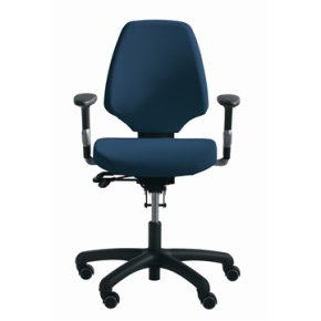 RH Activ 222 kontorstol høj ryg, bredt sæde blå