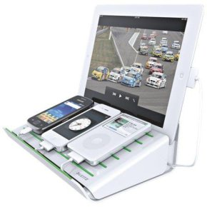 Leitz multicharger til mobile enheder, hvid