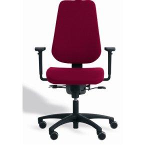 RBM 829 high kontorstol,Rød, høj gas