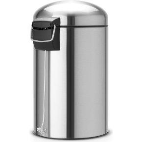 Brabantia Retro Pedalspand 12 liter, mat stål