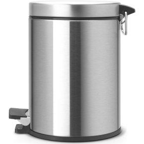 Brabantia Pedalspand 5 liter, mat stål