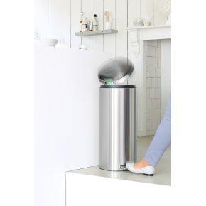 Brabantia Pedalspand 30 liter, mat stål