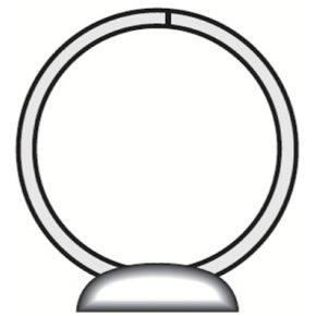 Esselte Indstiksringbind A4, 4 OR, 30 mm, hvid