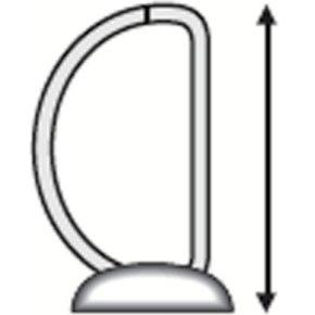 Esselte Indstiksringbind A4, 4 DR, 38mm, hvid