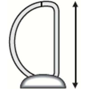 Esselte Indstiksringbind A4, 4 DR, 63mm, sort