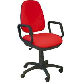 Deluxe kontorstol med armlæn, rød