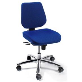 RBM 819  kontorstol sort stel, Oxford blå