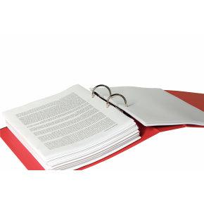 Esselte No.1 brevordner A4, 75mm, rød