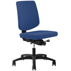 RBM 620 kontorstol sort stel Oxford blå