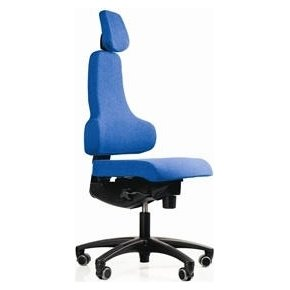 RBM 768 kontorstol sort stel, Oxford blå