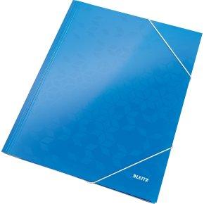 Leitz WOW elastikmappe, blå