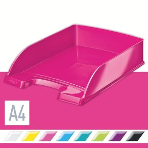Leitz WOW brevbakke, pink metallic