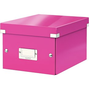 Leitz Click & Store opbevaringsboks small, pink