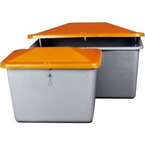Salt-/sandbeholder 700 L, Grå/orange