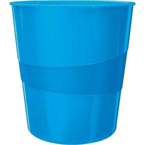 Leitz WOW papirkurv, blå