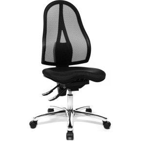 Sitness kontorstol med netryg Sort