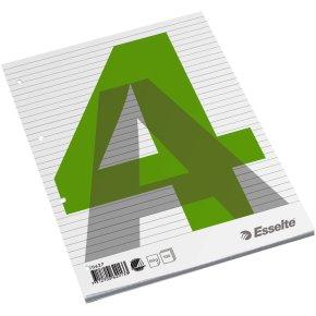 Budget standardblok A4, linjeret, sidelimet