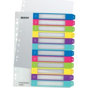 Leitz WOW Printbare registre, A4, 1-12