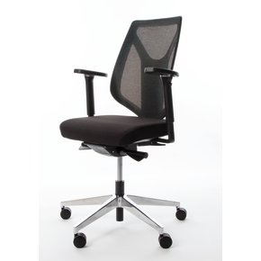 Menta kontorstol med net ryg sort
