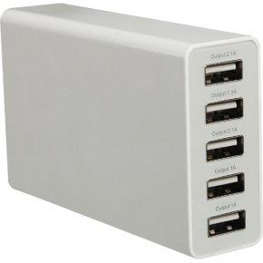 Miracase Bordoplader m. 5 USB-Udgange