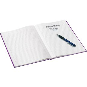 Leitz WOW notesbog A5, linjeret, lilla