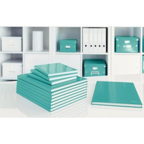 Leitz WOW notesbog A5, linjeret, isblå