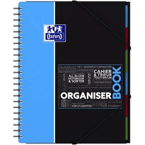 Oxford SOS Organizer Notesbog A4, linjeret, ass.