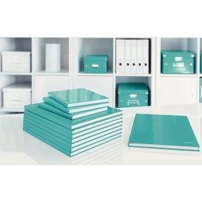 Leitz WOW notesbog A4, kvadreret, isblå
