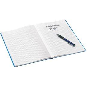 Leitz WOW notesbog A5, kvadreret, isblå