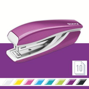 Leitz WOW Mini hæftemaskine, lilla metallic