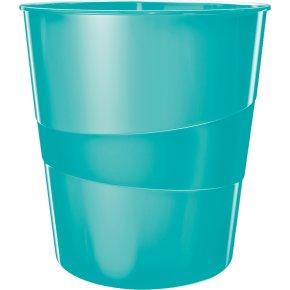 Leitz WOW papirkurv, isblå